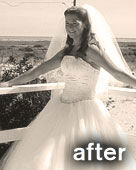 Buff Brides' client Colleen after
