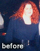 Buff Brides' client Colleen before