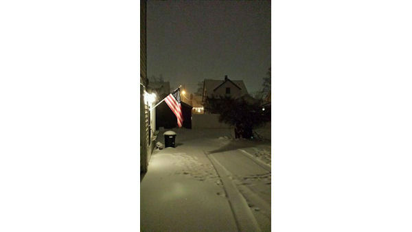 The snow has been falling in Cornwall, New York. <span class=meta>(WABC Photo)</span>