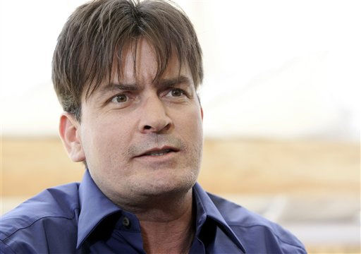 American actor Charlie Sheen is seen during an interview with the Associated Press at the 59th International film festival in Cannes, southern France, on Sunday, May 21, 2006.  &#40;AP Photo&#47;Jeff Christensen&#41; <span class=meta>(AP Photo&#47; JEFF CHRISTENSEN)</span>