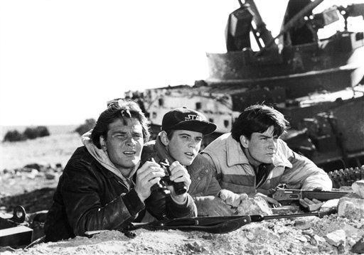 "<div class=""meta image-caption""><div class=""origin-logo origin-image ""><span></span></div><span class=""caption-text"">FILE - In this 1984 file photo originally released by MGM/United Artists, actors, from left, Patrick Swayze, C. Thomas Howell and Charlie Sheen are shown in a scene from the film, ""Red Dawn."" (AP Photo/MGM/United Artists) (AP Photo/ Anonymous)</span></div>"