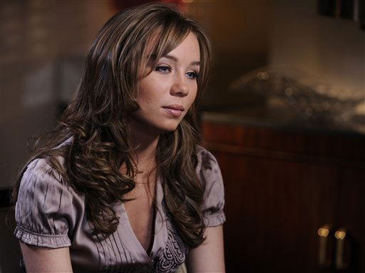 In this publicity image released by ABC, Capri Anderson, the woman who was found locked in a bathroom of actor Charlie Sheen&#39;s hotel room on Oct. 25, 2010 is shown during an interview in New York which will air on &#34;Nightline,&#34; Monday, Nov. 22, 2010. Anderson said she&#39;s suing the actor for battery and false imprisonment, and plans to file a criminal report with New York City police.  &#40;AP Photo&#47;ABC, Ida Mae Astute&#41; <span class=meta>(AP Photo&#47; Ida Mae Astute)</span>