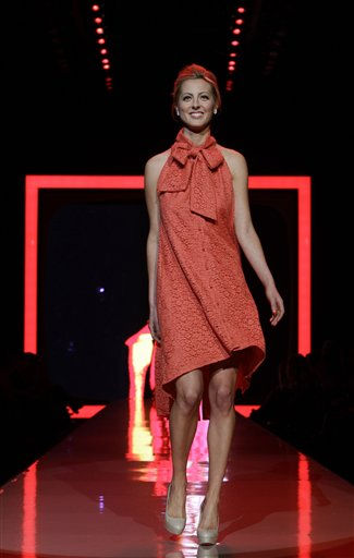 "<div class=""meta image-caption""><div class=""origin-logo origin-image ""><span></span></div><span class=""caption-text"">Eva Amurri walks the runway wearing a dress designed by Chris Benz during the Heart Truth Red Dress Fall 2011 show in New York, Wednesday, Feb. 9, 2011.  (AP Photo/Kathy Willens) (AP Photo/ Kathy Willens)</span></div>"