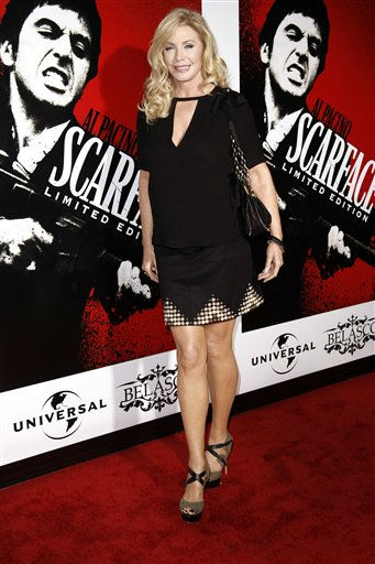 Shannon Tweed arrives at &#34;Scarface&#34; Legacy Celebration Event in Los Angeles, Tuesday, Aug. 23, 2011. &#34;Scarface&#34; will be released on Blu-ray September 6, 2011.  &#40;AP Photo&#47;Matt Sayles&#41; <span class=meta>(AP Photo&#47; Matt Sayles)</span>