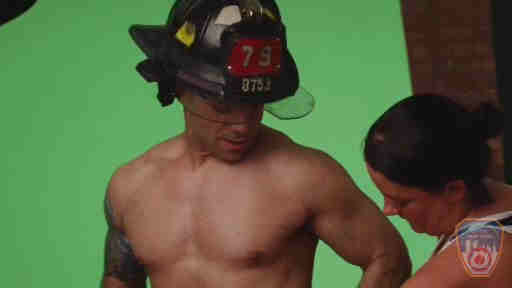 The official FDNY 2014 calendar featuring 13 shirtless firefighters showing off their chiseled abs is going on sale Monday. All proceeds from the sale go to promoting fire safety for residents and training for firefighters.