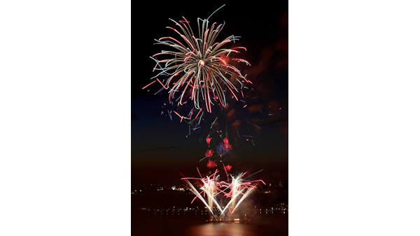 Fireworks are launched from barges in the Hudson River in New York, Monday, July 4, 2011.  <span class=meta>(AP Photo&#47;Seth Wenig)</span>