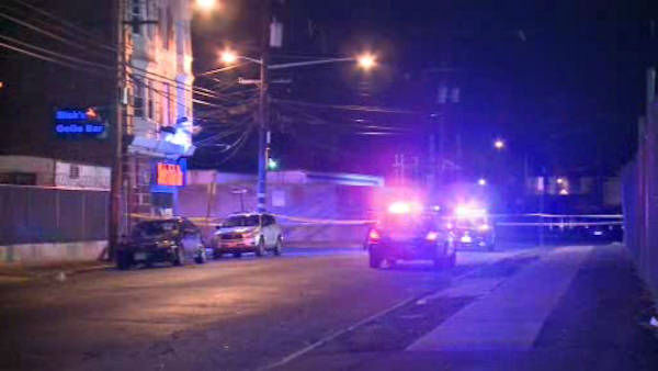 "<div class=""meta ""><span class=""caption-text "">Three people were killed and two others wounded in a shooting early Wednesday morning outside a strip club in Irvington, New Jersey.</span></div>"