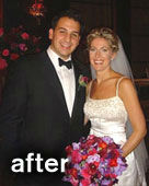 Buff Brides' client Karen after
