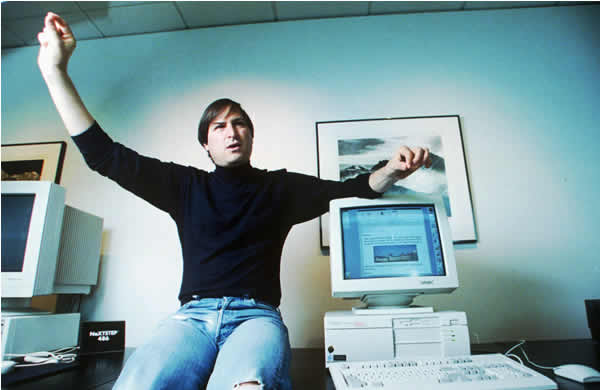 Steven P. Jobs, shown in this 1993 photo, became a billionaire Wednesday, Nov. 29, 1995, when a small digital studio he bought nine years ago went public to a storm of investor demand. In its first trading day, investors gave Pixar Animation Studios, the company that made the current No. 1 movie ``Toy Story,&#39;&#39; a market value of &#36;1.46 billion. Jobs, who is Pixar&#39;s president, owns 80 percent of its 37.4 million outstanding shares.  <span class=meta>(AP Photo&#47;Kristy Macdonald)</span>