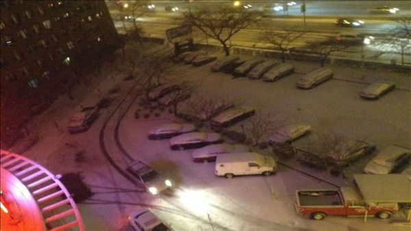 The snow has arrived in LeFrak City, New York! <span class=meta>(WABC Photo)</span>
