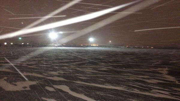 This is the scene outside of Linden Airport in Linden, New Jersey. <span class=meta>(WABC Photo)</span>