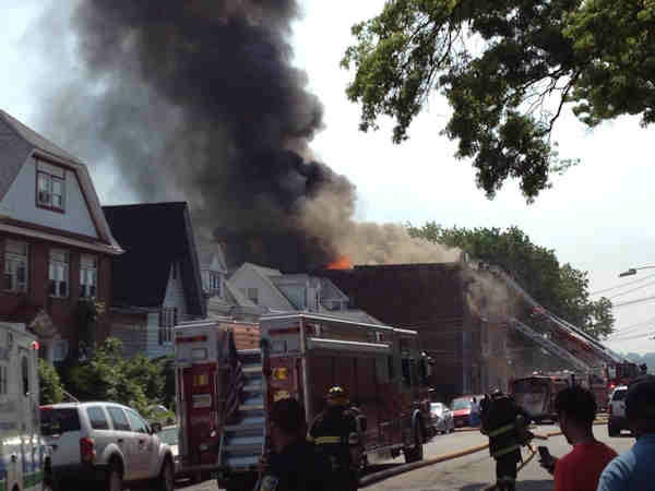 "<div class=""meta image-caption""><div class=""origin-logo origin-image ""><span></span></div><span class=""caption-text"">Large flames were seen out of a building in Passaic, New Jersey.  The fire was near Passaic High School that was forced to evacuate.</span></div>"