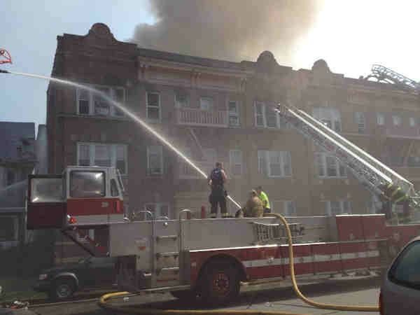 Large flames were seen out of a building in Passaic, New Jersey.  The fire was near Passaic High School that was forced to evacuate.