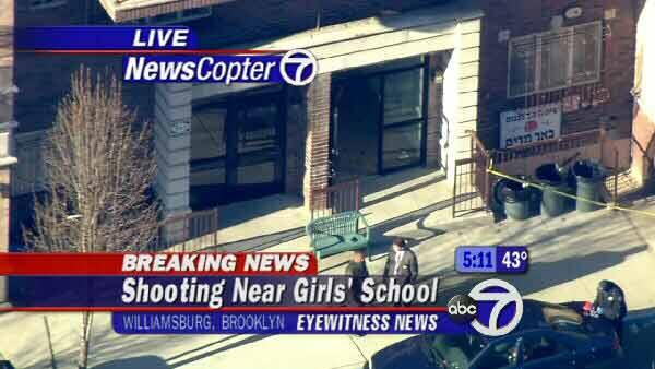 A shooting near a Jewish girls school in Brooklyn.