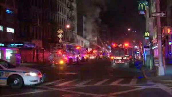 "<div class=""meta ""><span class=""caption-text ""> Firefighters battled a three-alarm fire early Saturday morning at an apartment building on Canal Street. ( P</span></div>"