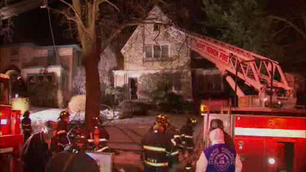 "<div class=""meta image-caption""><div class=""origin-logo origin-image ""><span></span></div><span class=""caption-text"">Firefighters battled a two-alarm fire Monday night at a home on Magnolia Avenue in Mount Vernon.   </span></div>"