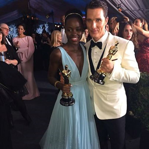 Oscar winners Matthew McConaughey and Lupita Nyong'o.