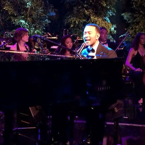"John Legend performing Springsteen's ""Dancing in the Dark"" at The Governor's Ball."