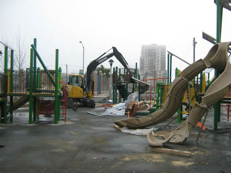 "<div class=""meta ""><span class=""caption-text "">A playground set to open this summer was vandalized in Queens. (WABC Photo)</span></div>"