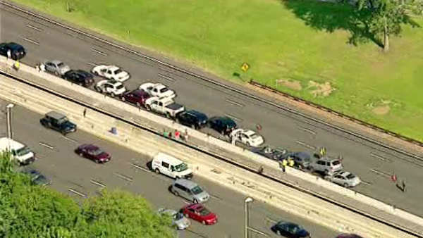 "<div class=""meta ""><span class=""caption-text "">At least a dozen cars were involved in the accident Tuesday afternoon on the Garden State Parkway.</span></div>"