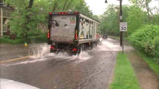 Photos of flash flooding around the New York area on Thursday, May 23, 2013.