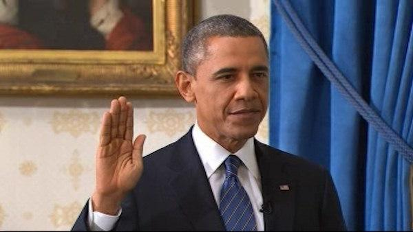 President Obama  sworn in for second term