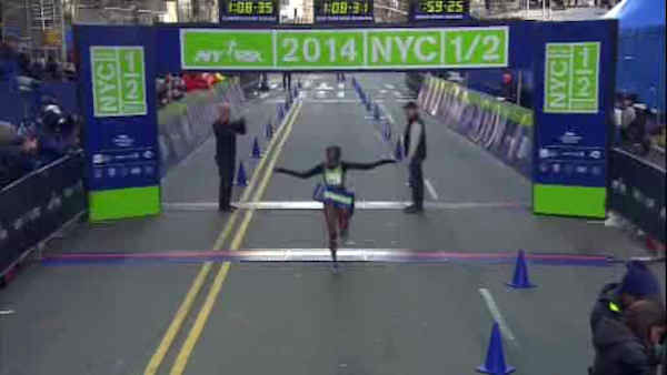 "<div class=""meta image-caption""><div class=""origin-logo origin-image ""><span></span></div><span class=""caption-text"">Sally Kipyego was the women's winner, with a time of 1 hour, 8 minutes and 31 seconds.</span></div>"