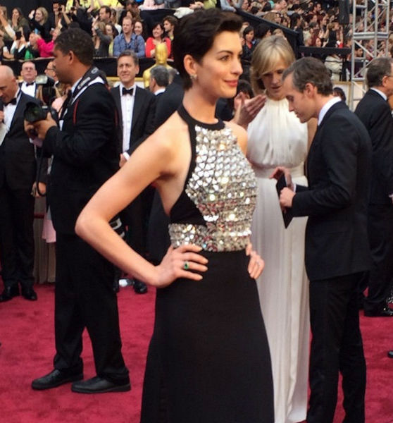 Anne Hathaway on the Red Carpet.