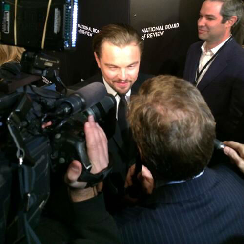Here is Oscar nominee, Leonardo DiCaprio.