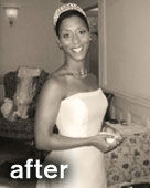 Buff Brides' client Sherice after