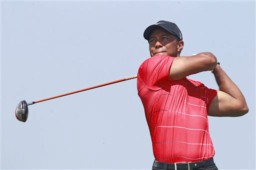 Tiger Woods watches his drive from the seventh tee during the final round of the PGA Championship golf tournament on the Ocean Course of the Kiawah Island Golf Resort in Kiawah Island, S.C., Sunday, Aug. 12, 2012. &#40;AP Photo&#47;John Raoux&#41; <span class=meta>(AP Photo&#47; John Raoux)</span>