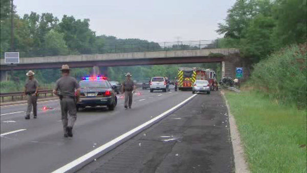 Four people were killed early Sunday morning when a car struck an overpass on the Sprain Brook Parkway in Greenburgh.