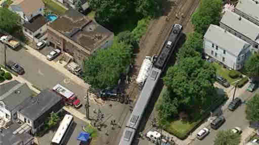 "<div class=""meta ""><span class=""caption-text "">A train struck at a truck at a crossing in Bergen County, forcing New Jersey Transit to suspend service on the Bergen Line.</span></div>"