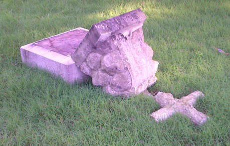 "<div class=""meta ""><span class=""caption-text "">Photos of the damage caused to 43 memorials and monuments at Green-Wood Cemetery in Brooklyn on Tuesday, August 21, 2012. (Photos courtesy http://www.green-wood.com) (Photo/jeff richman)</span></div>"
