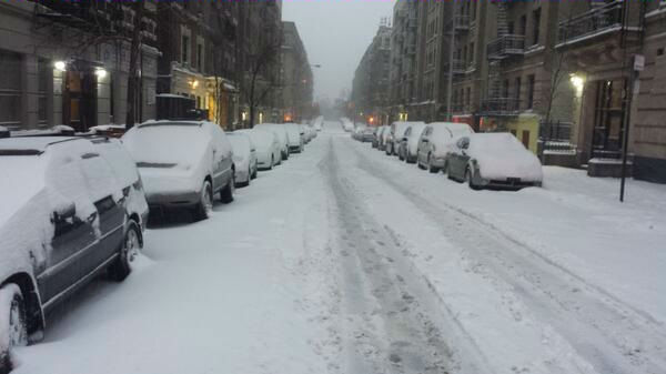 163rd Street west of Broadway in Manhattan