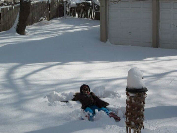 Tiah Coley-Lormejuste loving the snow