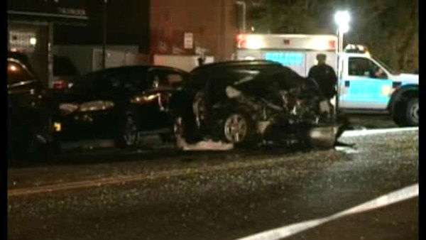 "<div class=""meta ""><span class=""caption-text "">Three people were killed and three others injured when their cars collided early Saturday morning in the Gravesend section of Brooklyn.</span></div>"