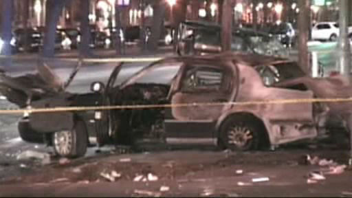 "<div class=""meta image-caption""><div class=""origin-logo origin-image ""><span></span></div><span class=""caption-text"">Scene of a four-vehicle accident on Eastern Parkway in Crown Heights where one person was killed early Friday.</span></div>"