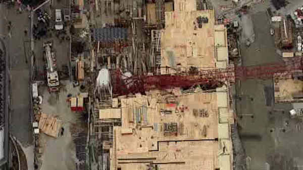 A large crane collapsed at a construction site in Long Island City, Queens.
