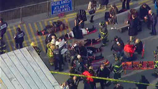 "<div class=""meta image-caption""><div class=""origin-logo origin-image ""><span></span></div><span class=""caption-text"">A commuter ferry had a hard landing when it pulled into a Lower Manhattan pier, injuring more than a dozen people.</span></div>"