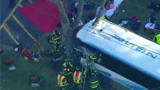 "<div class=""meta ""><span class=""caption-text "">An Academy bus collided with a mini school bus in Old Bridge, New Jersey.</span></div>"
