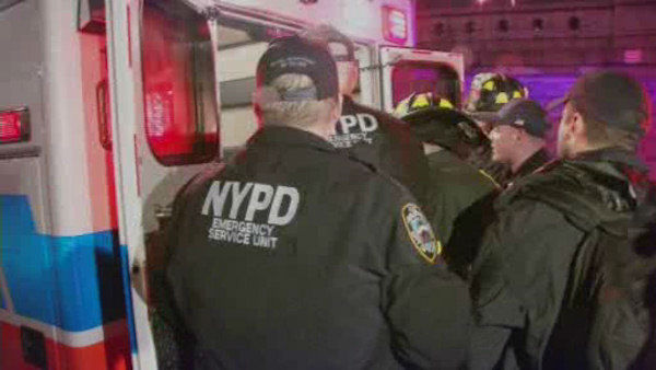 "<div class=""meta ""><span class=""caption-text "">Rescuers saved a woman who fell through a hole in the sidewalk Friday night at East 60th Street and Second Avenue in Manhattan.</span></div>"