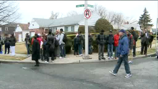 "<div class=""meta ""><span class=""caption-text "">Reports of a suspicious person on school grounds prompted a lockdown and caused frayed nerves at Elmont Memorial High School on Long Island Tuesday</span></div>"