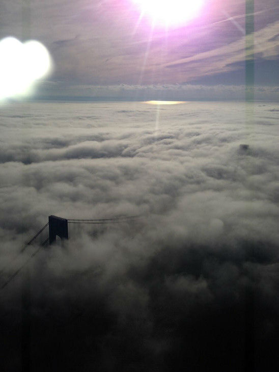 Beautiful look at the VZ, in the clouds from Shannon Sohn in NewsCopter 7.