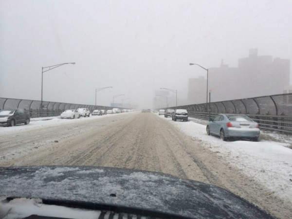 Riverside Drive and 125th Street...from RoadCam7. Messy.  <span class=meta>(Joe Torres)</span>