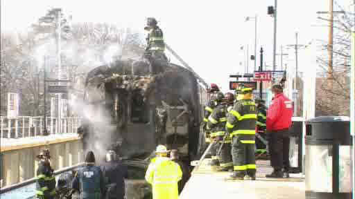 An LIRR equipment train collided with a car in Brentwood, Long Island.