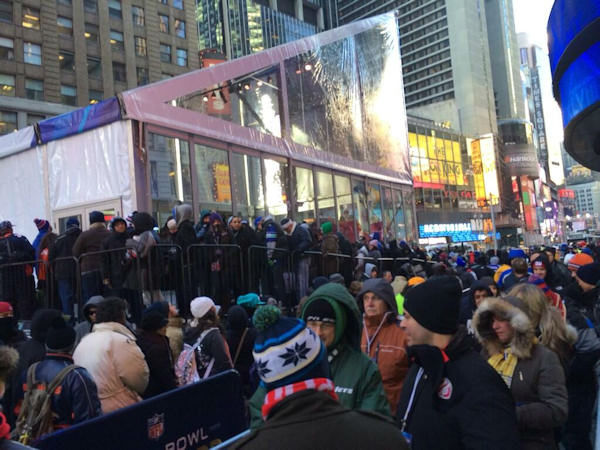 "<div class=""meta ""><span class=""caption-text "">Standing in line to see the Lombardi trophy - Sade Baderinwa @SadeABC </span></div>"