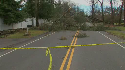 Various photos of storm damage around the New York area on Thursday, January 31, 2013.