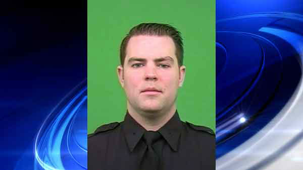 Eyewitness News has obtained photos of injured NYPD officer Kevin Brennan, his wife Janet and newborn baby Maeve.