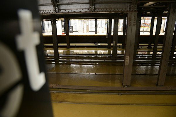 MTA photo of flooding after the warer main break at the 23rd Street Station.